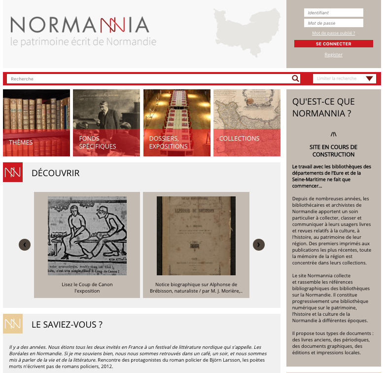 normannia page accueil