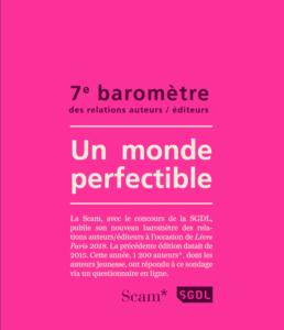 7e baromètre des relations auteurs/éditeurs