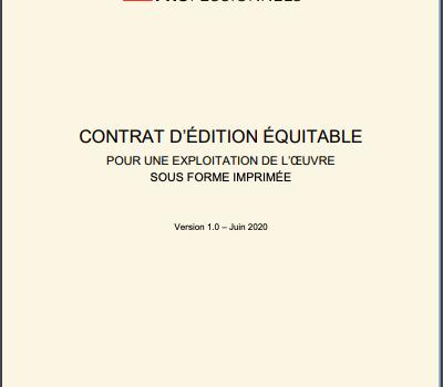 Contrat d'édition équitable