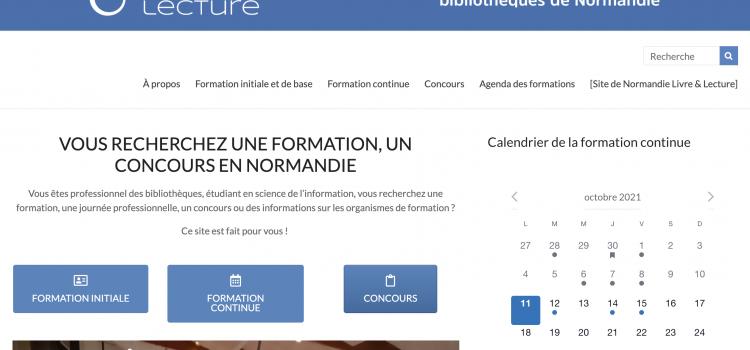 """Lancement du site """"Formations pour les bibliothèques de Normandie"""""""